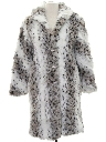 Womens Totally 80s Faux Fur Car Coat Jacket