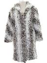 Womens Totally 80s Faux Fur Car Coat Jacket