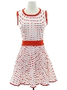 Womens Mod Knit Mini Dress