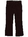Mens Corduroy Bellbottom Jeans Cut Pants