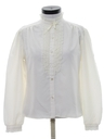 Womens Ruffled Front Secretary Shirt