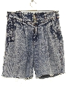 Womens Wicked 90s High Waisted Acid Washed Denim Cut Off Shorts