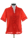 Womens Ruffled Front Shirt