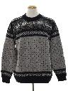 Mens Vintage Snowflake Ski Sweater