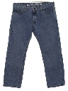 Mens Relaxed Tapered Leg Denim Jeans Pants