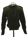 Mens Wool Military Sweater