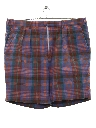 Mens Plaid Bermuda Shorts
