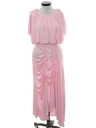 Womens Totally 80s Assymetrical Prom Or Cocktail Dress
