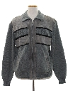 Mens Leather Sweater Jacket