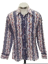 Mens/Boys Cotton Blend Print Disco Style Shirt
