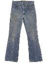 Unisex Flared Leg Denim Jeans Pants