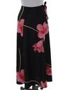 Womens Maxi Hawaiian Style Wrap Skirt