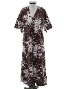 Womens Maxi Hippie Hawaiian Dress