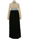 Womens Mod Maxi Prom or Cocktail Dress