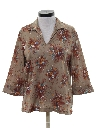 Womens Resort Wear Style Print Disco Shirt