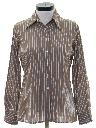 Womens Cotton Blend Print Disco Style Shirt