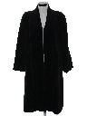 Womens Totally 80s Long Velvet Coat Jacket