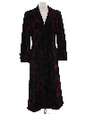 Womens Wicked 90s Long Velvet Coat Jacket
