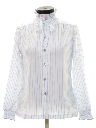Womens Totally 80s Ruffled Front Secretary Shirt