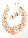 Womens Accessories - Jewelry Necklace And Matching Clip On Earrings