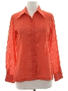 Womens Cotton Blend Print Disco Style Shirt