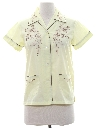 Womens Embroidered Asian Style Hippie Shirt