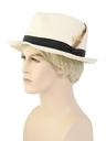 Mens Accessories - Straw Fedora Hat