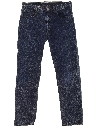 Mens Totally 80s Acid Washed Buttonfly Jeans Pants