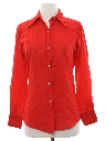 Womens Cotton Blend Solid Disco Shirt