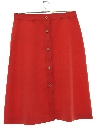 Womens Midlength Knit Skirt