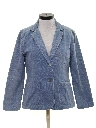 Womens Denim Blazer Sport Coat Jacket