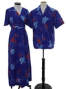 Unisex Matching Hawaiian Maxi Dress And Hawaiian Shirt