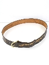 Mens Accessories - Stamped Leather Western Belt