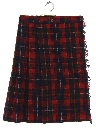 Womens Classic Pleated Wool Skirt