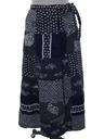 Womens Reversible Wrap Skirt