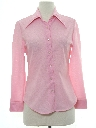 Womens Solid Disco Shirt