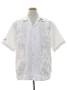 Mens Embroidered Guayabera Shirt