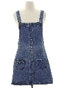 Womens Denim Mini Hippie Dress