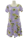 Womens Wicked 90s Hawaiian Style Dress