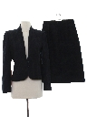 Womens Matching Wool Skirt Suit