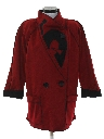 Womens Totally 80s Wool Coat Jacket