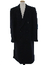 Mens Wool Overcoat Trench Jacket