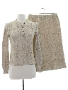 Womens Matching Knit Skirt Suit