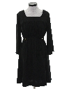 Womens Black Knit Dress