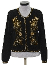 Womens Beaded And Sequined Cocktail Sweater