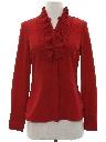 Womens/Girls Ruffled Front Secretary Shirt