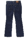 Womens Straight Leg Denim Pants
