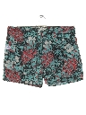 Mens Reverse Print Hawaiian Board Shorts