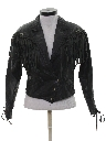 Womens Totally 80s Fringe Leather Jacket