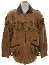 Mens Totally 80s Fringe Leather Jacket